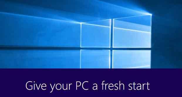 Capture d'écran Refresh Windows 10