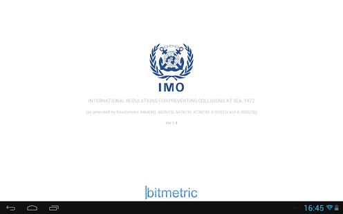 Capture d'écran IMO Collision Regulations