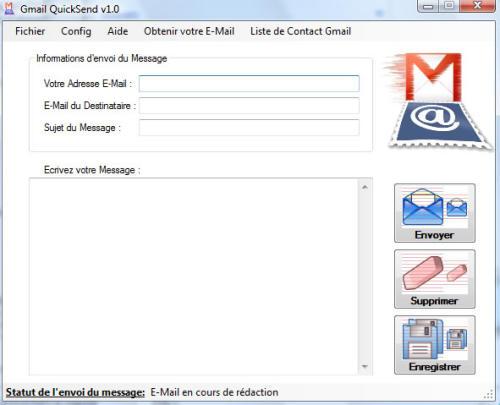 Capture d'écran Gmail QuickSend