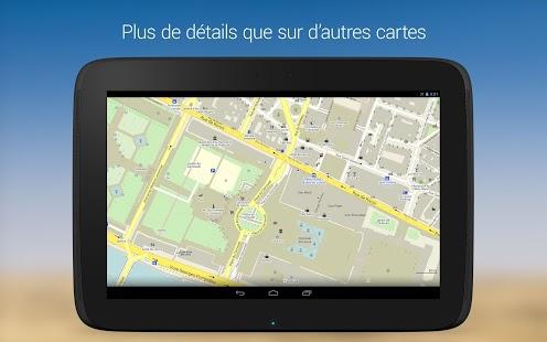 Capture d'écran MAPS.ME — offline carte