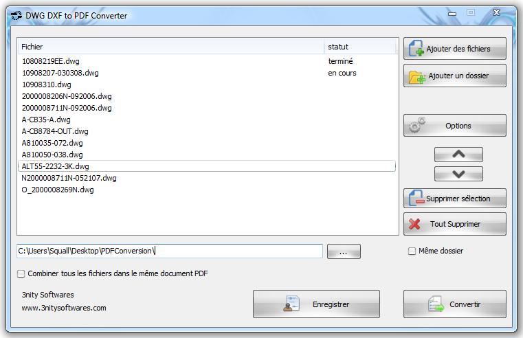 Capture d'écran DWG DXF to PDF Converter