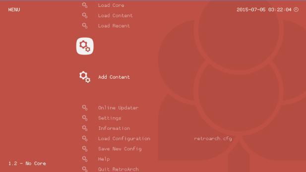 Capture d'écran RetroArch Android