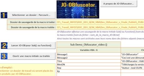 Capture d'écran JO-Obfuscator