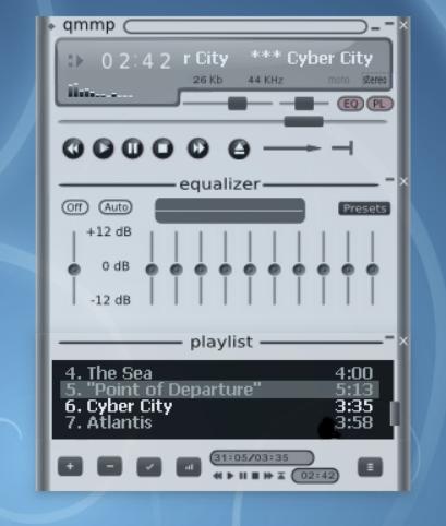 Capture d'écran Qmmp