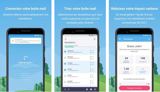 Capture d'écran Cleanfox Android