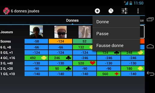 Capture d'écran TarotDroid
