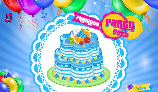 Capture d'écran Parti décoration de gâteau