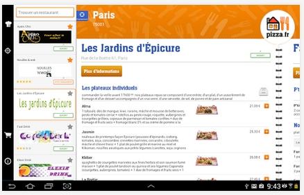 Capture d'écran PIZZA.FR Android