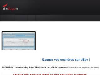 Capture d'écran eBaySniper.fr