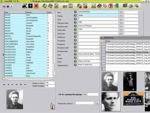 Capture d'écran SmartDB
