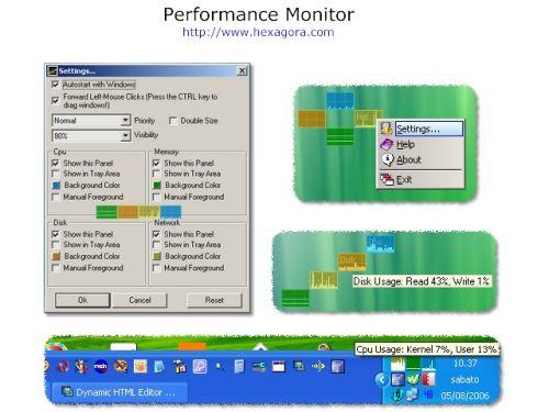 Capture d'écran Performance Monitor