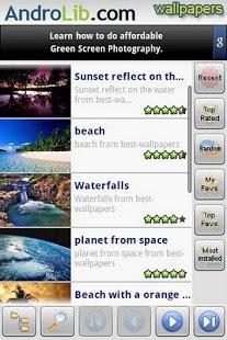 Capture d'écran AndroLib Wallpapers Fond ecran