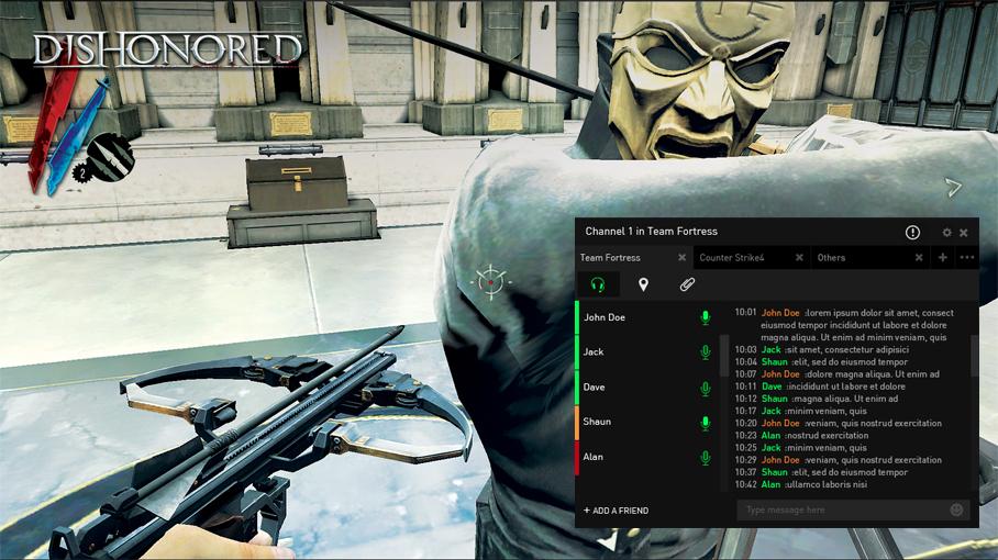 Capture d'écran Razer Comms