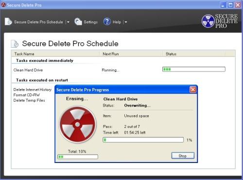 Capture d'écran Secure Delete Pro