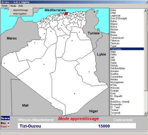 Capture d'écran cbgeo l'Algérie