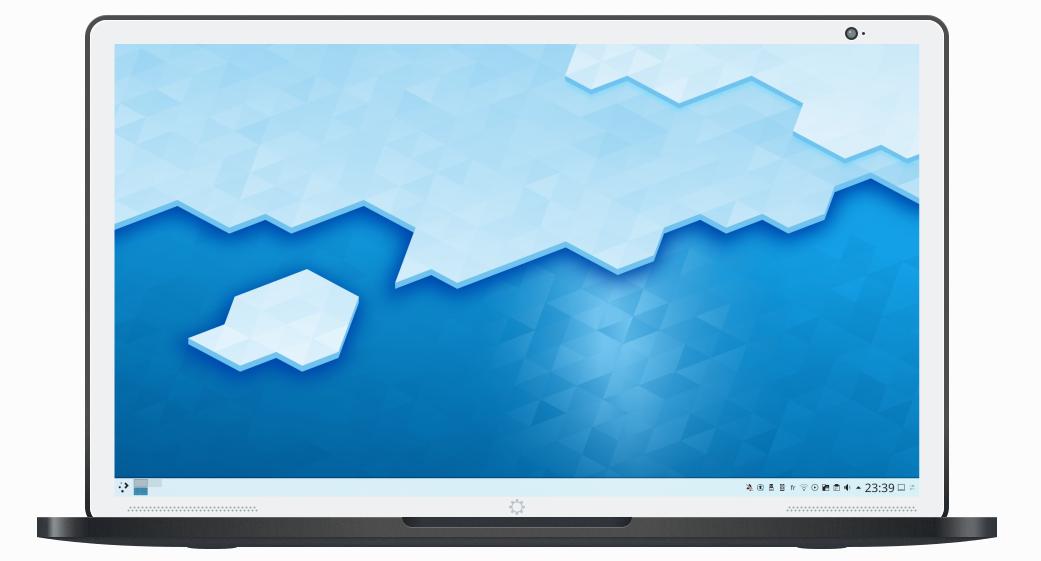 Capture d'écran KDE Neon