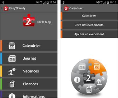 Capture d'écran easy2family Android
