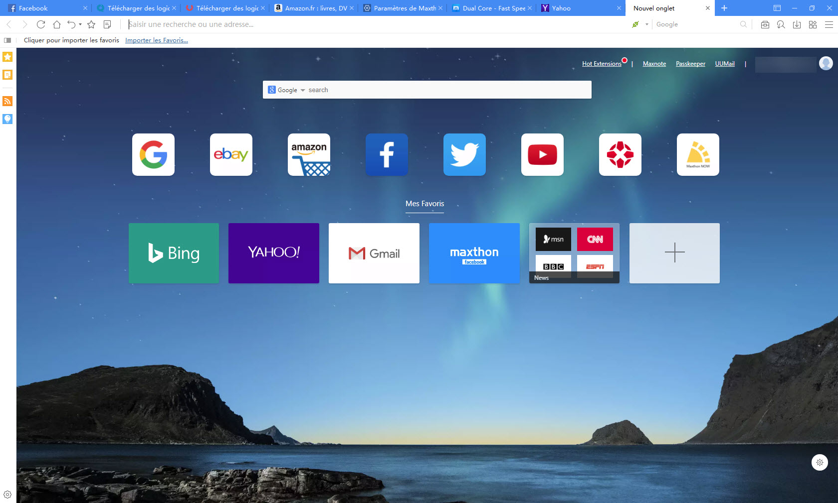 Capture d'écran Maxthon Cloud Browser pour Windows