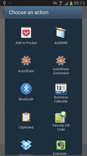 Capture d'écran AutoShare