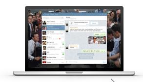 Capture d'écran Telegram Linux