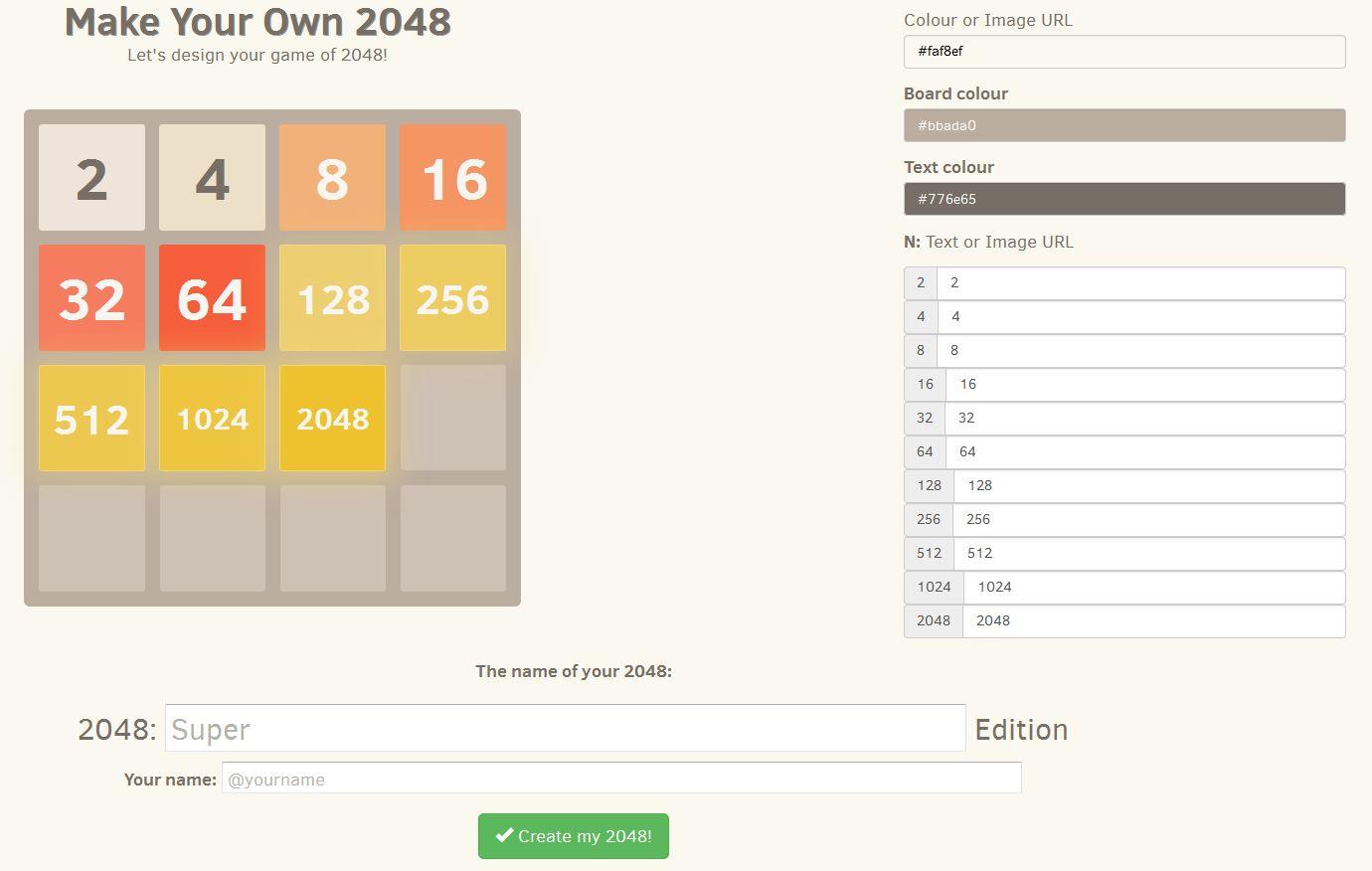 Capture d'écran Make Your Own 2048