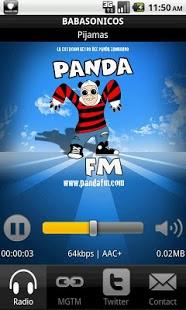 Capture d'écran Panda FM