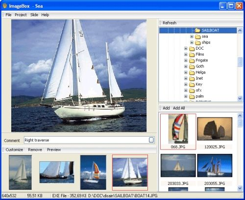 Capture d'écran ImageBox