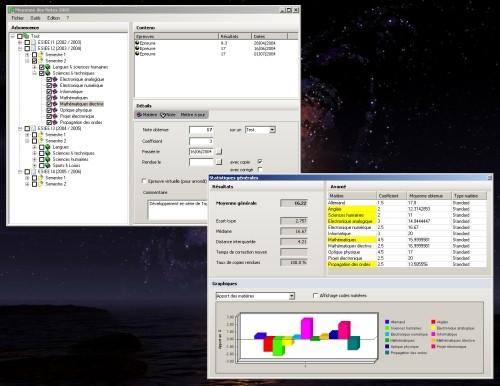 Capture d'écran Moyenne des Notes 2005