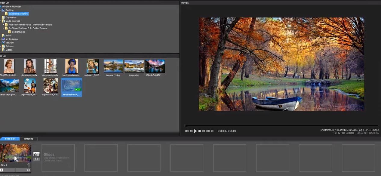 Capture d'écran Proshow