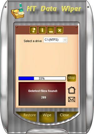 Capture d'écran NT Data Wiper