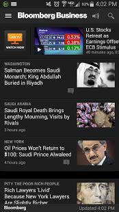 Capture d'écran Bloomberg Business