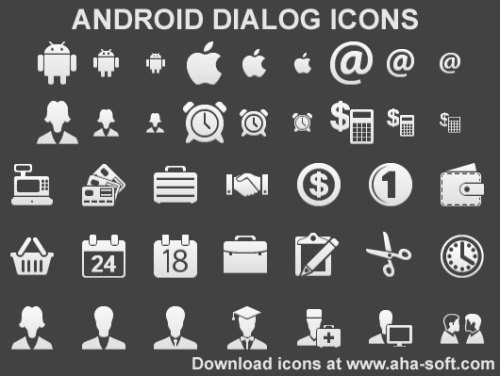 Capture d'écran Android Dialog Icons