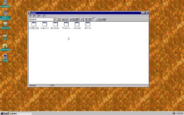 Capture d'écran Windows 95 Linux