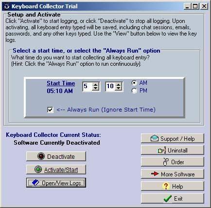 Capture d'écran Keyboard Collector