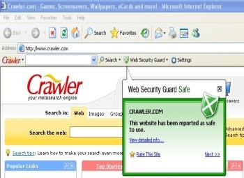 Capture d'écran Web Security Guard