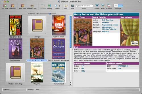 Capture d'écran Collectorz.com Book Collector Mac