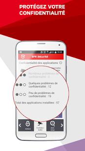Capture d'écran SFR Sécurité