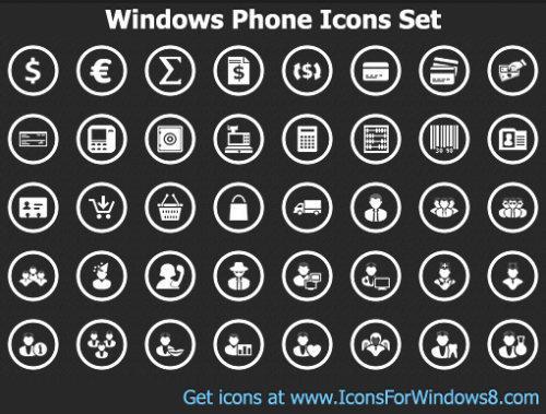 Capture d'écran Windows Phone Icons Set
