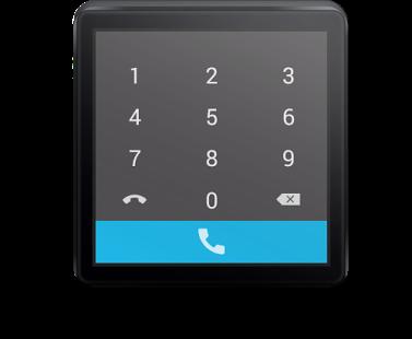 Capture d'écran Mini Dialer for Android Wear