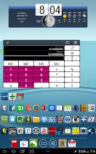Capture d'écran Calculatrice Mémoire