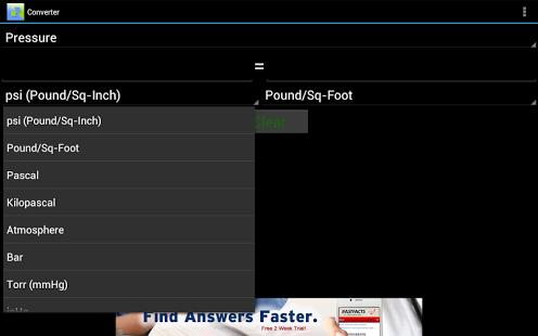 Capture d'écran Convertisseur