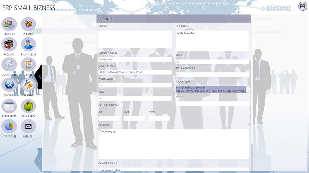 Capture d'écran ERP SMALL BIZNESS