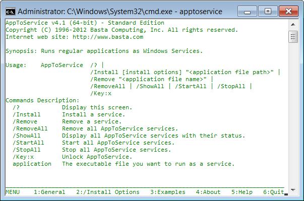 Capture d'écran AppToService