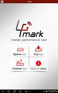 Capture d'écran 4Gmark (Test de débit 3G / 4G)