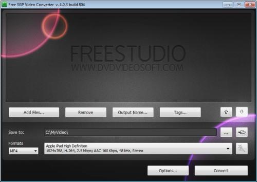 Capture d'écran Free 3GP Video Converter