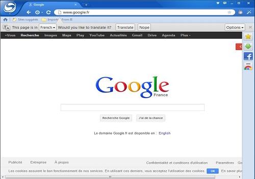 Capture d'écran Baidu Spark Browser