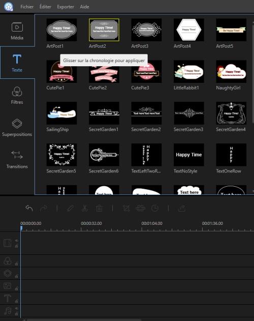 Capture d'écran Apowersoft Vidéo Editeur Pro pour Windows