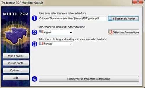 Capture d'écran Multilizer PDF Translator