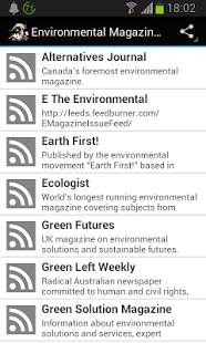 Capture d'écran Environmental Magazines