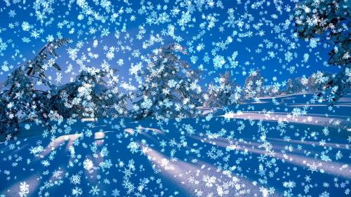 Capture d'écran Animated Wallpaper: Snowy Desktop 3D